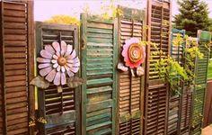 ☮ American Hippie Bohéme Boho Lifestyle ☮ Upcycled Painted Fence