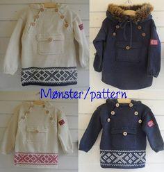 Epla er et nettsted for kjøp og salg av håndlagde og andre unike ting! Baby Knitting, Crochet Baby, Knit Crochet, Needlework, Knitwear, Baby Kids, Graphic Sweatshirt, Style Inspiration, Knit Patterns