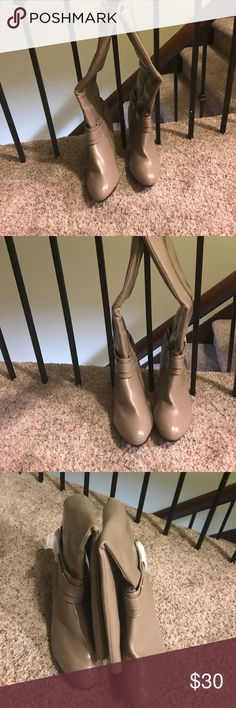 Boots Tan boots brand new. It's wide width. Lane Bryant Shoes Heeled Boots