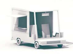 Low-Poly [Vehicles] by Timothy J. Reynolds, via Behance Low Poly Car, Step Van, Van Design, Car Illustration, Shop Front Design, Visual Development, Fun At Work, Recreational Vehicles, Behance