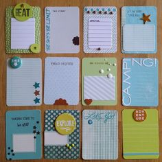 vacation pl cards prepared by CharlotteElvedal at Project Life Scrapbook, Project Life Album, Project Life Layouts, Project Life Cards, Scrapbook Journal, Journal Cards, Scrapbook Cards, Diy Journaling Cards, Project Life Planner