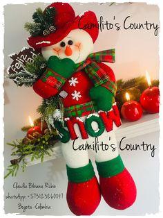 Ideas Para, Christmas Stockings, Snowman, Country, Holiday Decor, Home Decor, Xmas, Happy, Snow