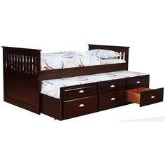 Captains Beds Captain's Bed with Trundle and Storage by Bernards - Royal Furniture - Captain's Bed Memphis, Jackson, TN, Southaven, MS, West Memphis, AR