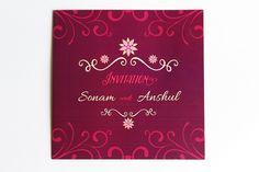 Purple Carnation Invite