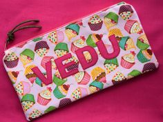 Custom appliqué purse