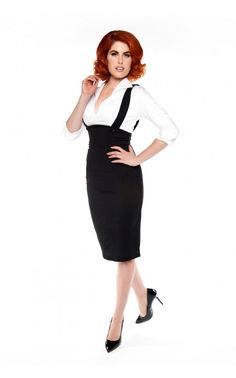 Pinup Girl Clothing- Jump For Joy Skirt in Black | Pinup Girl Clothing