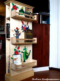 diy m rchen b cherregal kinderzimmer diy fairy tale bookcase for the nursery interior design. Black Bedroom Furniture Sets. Home Design Ideas