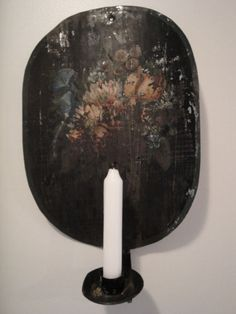 toleware tin candle sconce