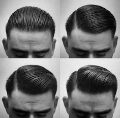 Makeup mens retro slick rockabilly hair - Get out your pomade boys! We've collected some of the most dapper snaps of Men's retro, rockabilly inspired hairstyles. We've got teddy boy hairstyles, Quiff hairstyles, … Mens Hairstyles Pompadour, Pompadour Men, Hairstyles Haircuts, Cool Hairstyles, Mens Slicked Back Hairstyles, Pomade Hairstyle Men, Wedding Hairstyles, Hairstyle Short, Casual Hairstyles