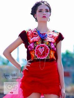 Blusa oaxaqueña mexicana