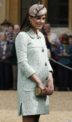 Duchess of Cambridge:    Where: National Review of Queen's Scouts at Windsor Castle.  Coat: Mulberry