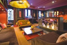 The comfortable library at the Sofitel Amsterdam  (My hOtel: Sofitel Legend The Grand Amsterdam)
