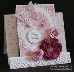 Today I have a special card to share with you. I made this for my mum who turns 90 today. Products Used: Bazzill Basics Card...