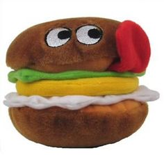 Multi Pet Look Whos Hungry Hamburger 4 in Plush Squeaker Dog Toy ** Check out the image by visiting the link.