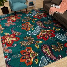 Count on this Bella Donna rug to protect your hardwood flooring from wear and tear and keep your living space cozy. Nylon construction and an action backing form a lasting piece for your home, while m