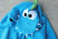 DIY Dino Hooded Towe