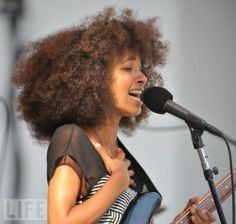 Esperalda Spalding,  amazing artist- she rocks it