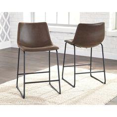 c3d006013e4 Centiar Barstool (Set of 2). Leather Bar StoolsSignature DesignRoom  ChairsDining ChairsDining RoomsDining DecorDining TableKitchen DiningBlack  Furniture
