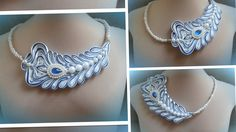 Колье из косой бейки, своими руками/ handmade necklace/bias binding/ МК/...