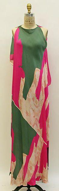 Evening dress Designer: Madame Grès (Alix Barton)  (French, Paris 1903–1993 Var region) Date: 1965–68