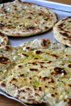 Garlic & herb flatbread - this bread is amazing - I served it with curry & it really is like naan. For herbs I used sage, rosemary, parsley, chives & coriander, but only because it's what I had on hand, it would go well with any herbs & I will definitely be making it again - Favorite