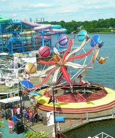 INDIANA BEACH - we went every single year for like 30+ years!  Love those tacos!!! LOL.... Boardwalk Amusement Park with rides over the water, boating, beaches, water parks, etc....