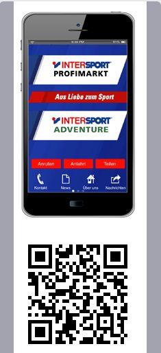 Mit der Intersport Profimarkt Pforzheim SmartPhone-App bieten wir Ihnen eine weitere einfache Möglichkeit mit uns zu kommunizieren. Sie können darüber hinaus viele verschiedene Funktionen nutzen, die es Ihnen jetzt noch einfacher machen bei uns einzukaufen, mit uns zu kommunizieren und zu profitieren. Die App sorgt dafür, dass Sie stets über unsere Events, Angebote und Gutschein-Aktionen informiert sind.