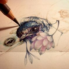"Marco Mazzoni - ""I Could Have Lost You"" on minimoleskine #fabercastellpolychromos"