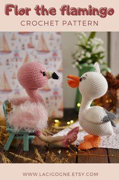 Flamingo Toy, Crochet Flamingo, Flamingo Nursery, Amigurumi Toys, Crochet Patterns Amigurumi, Handmade Ideas, Handmade Crafts, Diy Crochet, Crochet Toys