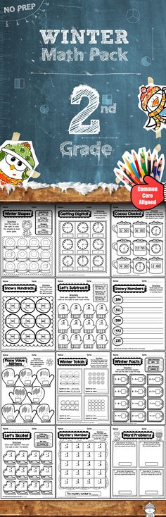 This 50 page Winter Math Pack requires NO PREP. All you need to do with this pack is hit print and go!