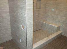 Start to finish Time lapse  Schluter  bathroom Kerdi-line linear drain D...