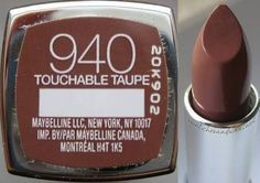 Touchable Taupe by Maybelline Makeup Bar, Nude Makeup, Kiss Makeup, Mac Makeup, Drugstore Makeup, Makeup Lipstick, Lilac Lipstick, Best Lipstick Color, Perfect Lipstick
