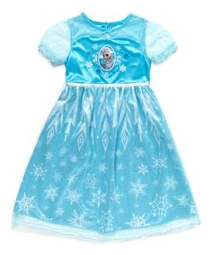 Look at this Blue Elsa Dressy Nightgown - Toddler & Girls on #zulily today!