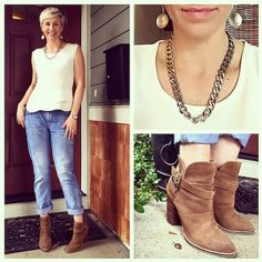 Outfit of the day - tank top, boyfriend jeans and booties #forever21 #loveaj #fashion #outfitoftheday #ootd #boyfriendjeans