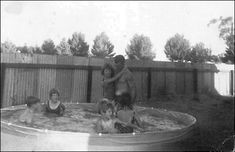 Dad and us kids enjoying Christmas Day in Lamaroo Australia in 1967 Life in Australia 1967 as Ten year old Irish Immigrant / £10 Poms