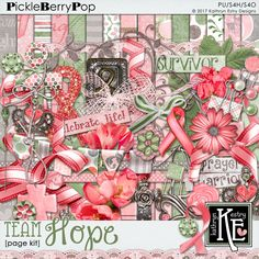 Team Hope Page Kit :: Coordinates with the entire Team Hope Digital Scrapbooking Collection by Kathryn Estry @ PickleberryPop $7.49