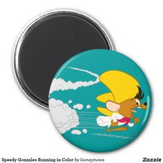 Looney Tunes - Speedy Gonzales Running in Color 2 Inch Round Magnet. Producto disponible en tienda Zazzle. Product available in Zazzle store. Regalos, Gifts. Link to product: http://www.zazzle.com/speedy_gonzales_running_in_color_2_inch_round_magnet-147437820364081681?design.areas=[round_magnet_225_front]&CMPN=shareicon&lang=en&social=true&rf=238167879144476949 #LooneyTunes #imanes #magnets