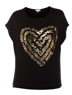 Gold Foil Animal Heart T-Shirt