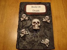 This a spell book for my witches den Diy Halloween Books, Halloween Party Themes, Halloween Ideas, Witch Spell Book, Spell Books, Altered Bottles, Book Crafts, Cool Things To Make, Witches