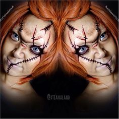 #chucky makeup #Halloween #makeup that's sick!!