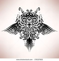 Abstract Owl Drawings | Owl mask Stock Photos, Illustrations, and Vector Art