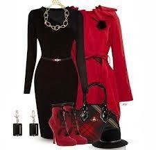 veste et boot en rouge