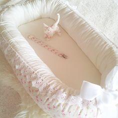 Babynest baby nest / Tilda Mini Rose White-Pink / by BelisaBrand