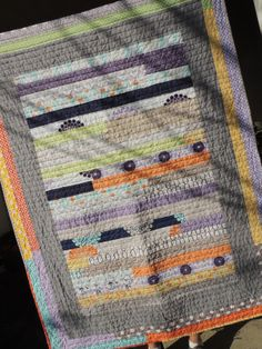 Love this quick and easy jelly roll quilt using Ashbury Heights by Doohikey Designs for Riley Blake