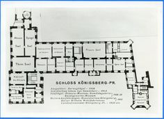 Königsberg Schloß/Castle - First floor plan/grundriss.