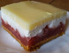 There is only one thing better than a yummy Rhubarb dessert in spring and that is when someone else makes it and you get to enjoy it. Thank you Tina for this wonderful dessert and sharing the recipe w Rhubarb Cookies, Rhubarb Desserts, Rhubarb Cake, Rhubarb Recipes, Summer Desserts, Fruit Recipes, Just Desserts, Delicious Desserts, Dessert Recipes