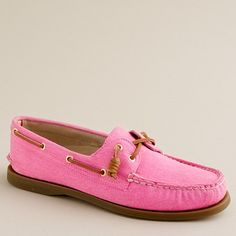 J.Crew, hot pink & sperrys. 'Nough said.