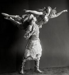 tamara karsavina   TAMARA KARSAVINA AND ADOLPH BOLM EM FIREBIRD 1911