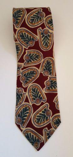 d27ee0e53306 Details about Geoffrey Beene Handmade 100% Silk Brown Checkered Men's Neck  Tie