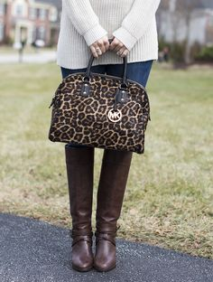 Michael Kors Leopard Purse